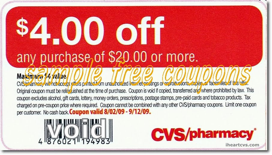 cvs coupon codes august