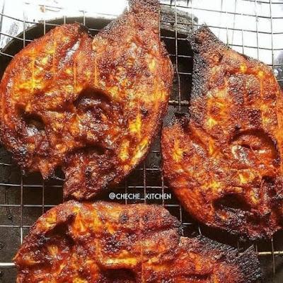 Gurame Bakar Manis Pedas - Resep Olahan Ikan