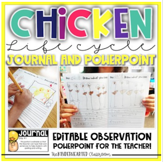 The Kinderhearted Classroom science journal data collection and graphing