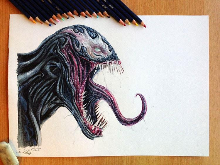Fascinantes dibujos hiperrealistas hechos con lápices de colores ...