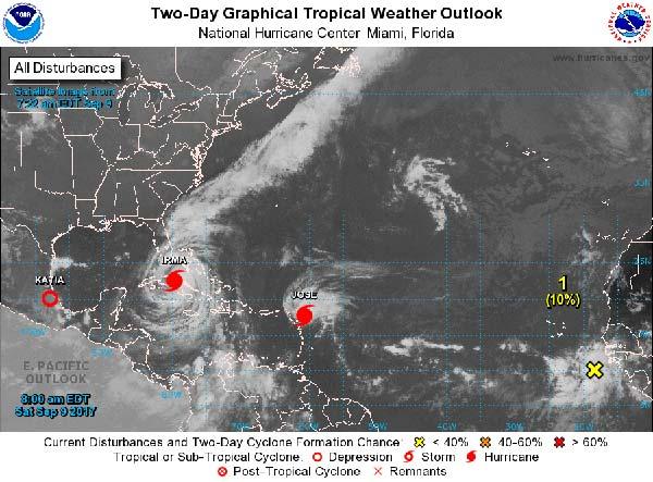 Se localiza una onda tropical en el Atlántico,a cientos  de millas de Cabo Verde.