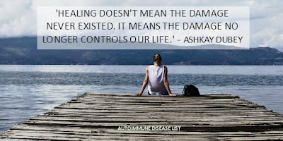 'Healing doesn't mean the damage never existed.     It means the damage no longer controls our life.'