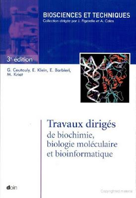"""[PDF] Livre Biologie """"Travaux dirigés - TD de biochimie, biologie moléculaire et bioinformatique"""""""