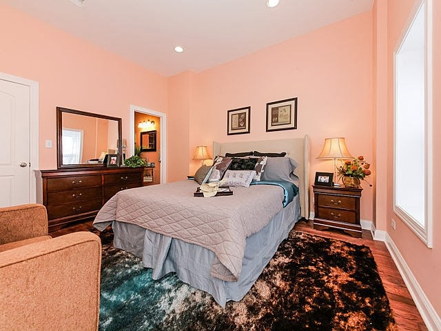 real estate photo staged master bedroom