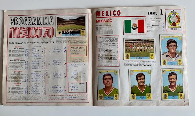 Programma album mexico 70 Panini