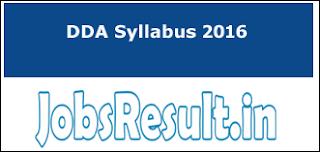 DDA Syllabus 2016