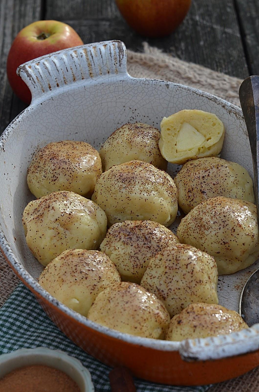 Apetyczna Babeczka Anielska Kuchnia Knedle Z Jabłkami I