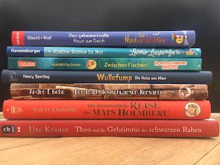 Kinderbücher für Grundschulkinder mit dem Thema Meer, Urlaub am Meer, Sommerferien, Ferienlektüre, Empfehlungen, Buchtipps für Kinder vom Kinderbuchblog Familienbücherei