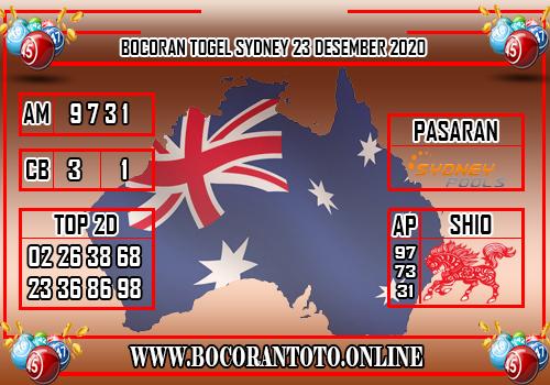 Bocoran Sydney 23 Desember 2020