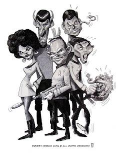 Caricatura de StarTrek