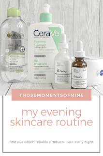evening skincare routine pinterest pin