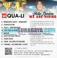 Loker Surabaya Terbaru di QUA-LI Oktober 2019