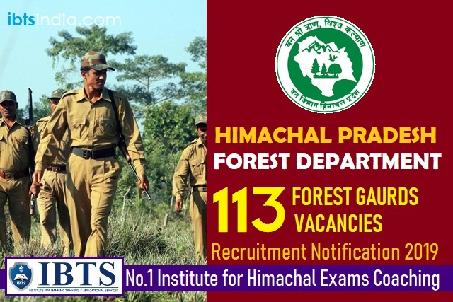 HP Forest Guard Recruitment Notification 2019 - 113 Vacancies (Apply Here Now)