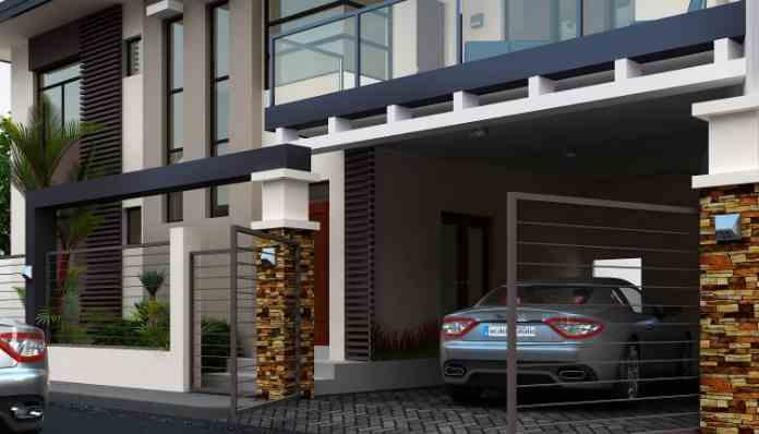 Rumah Tampak Depan Tema Minimalis Modern