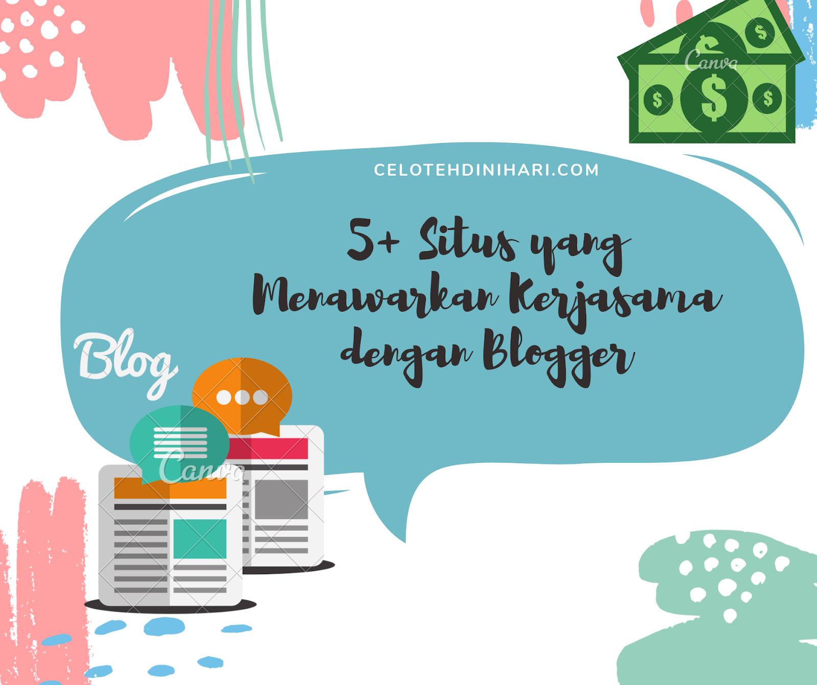 Situs yang menawarkan kerjasama dengan blogger
