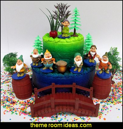 Snow White and the SEVEN DWARFS  Birthday Cake Topper  snow white party