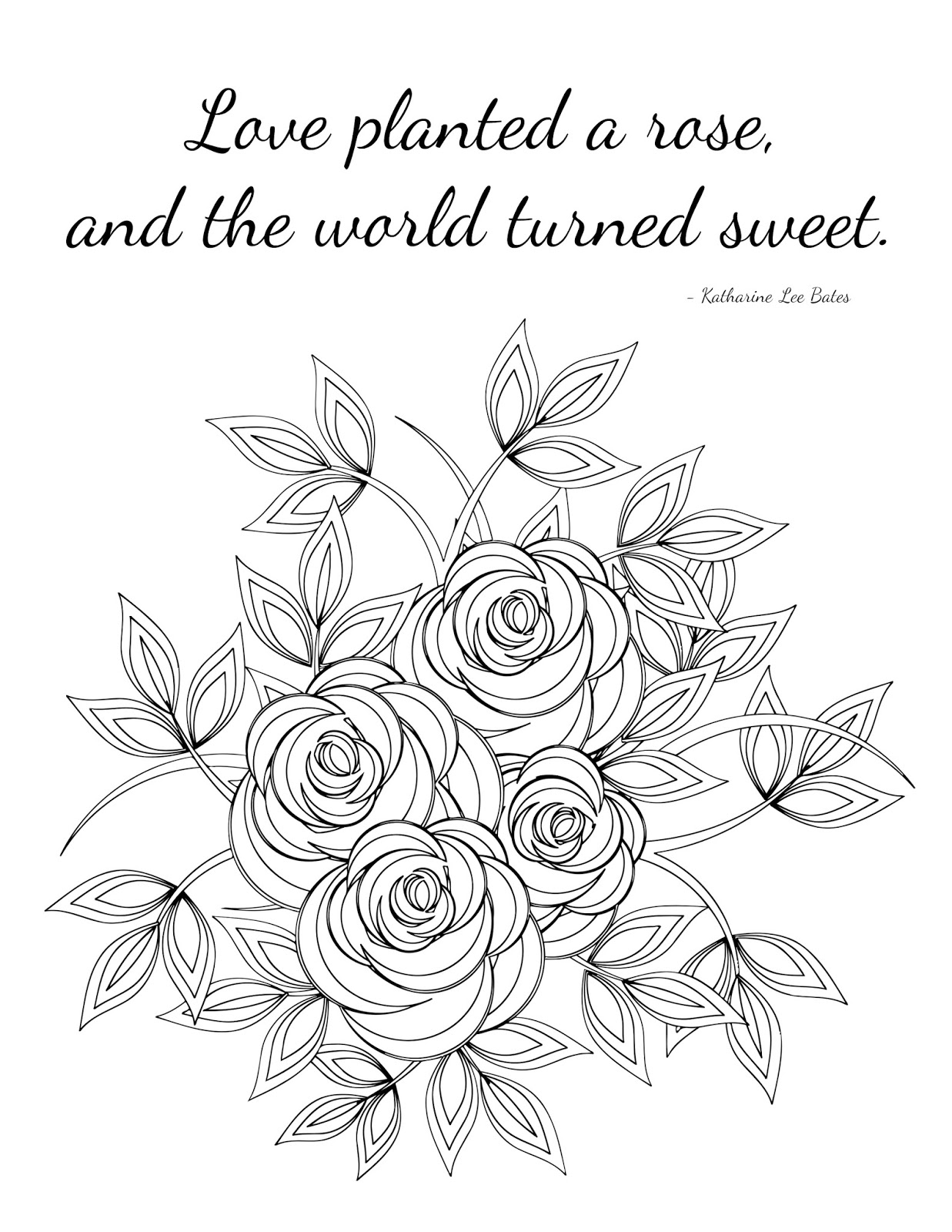 CJO Photo: Inspirational Coloring Page: Love Planted a ...