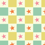 stars and sqares pattern