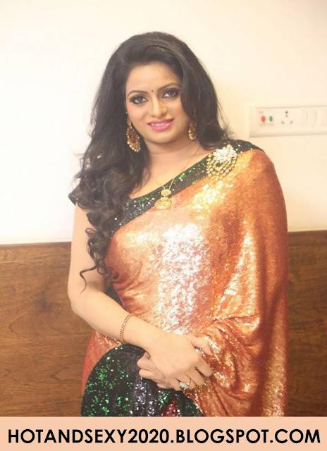 Udaya Bhanu Photo Stills in Saree At Movie Audio Launch Actress Trend