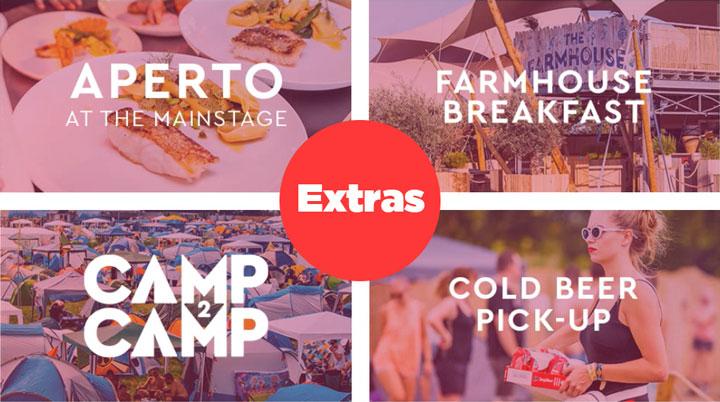 Tomorrowland Extras 2020: Restaurantes, Lockers, Tiendas de Campaña, Desayuno y Buses