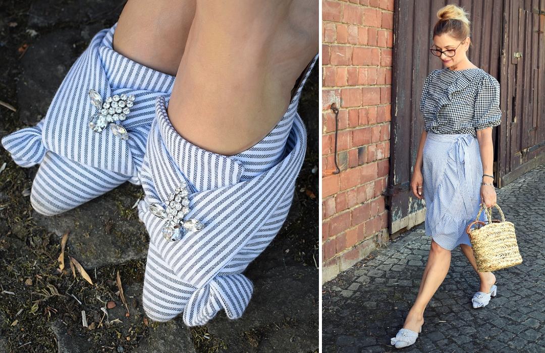 Schuhe mit Glitzersteinen, Mustermix richtig kombinieren