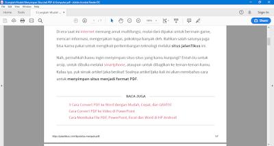 save halaman situs menjadi pdf