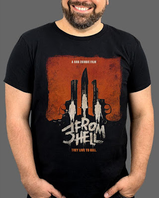 "FRIGHT-RAGS' 3 FROM HELL ""THEY LIVE TO KILL"" TEE."