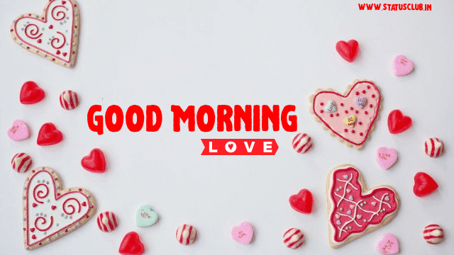good morning with heart image