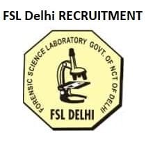 FSL Delhi SSA, SSO Recruitment 2019