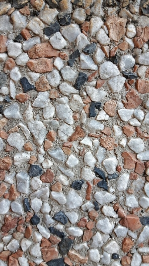pavimento esterno-sasso lavato-graniglia