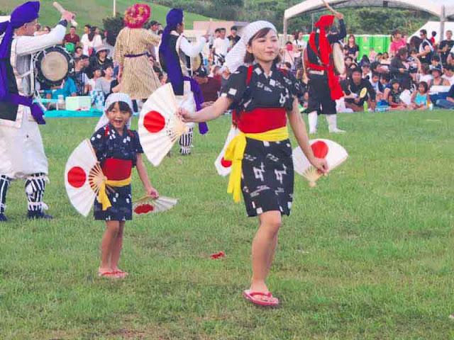 dance, Eisa, festival, matsuri, children, Kin Town, Okinawa