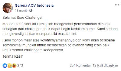 AOV Error Tidak Bisa Login 17 September