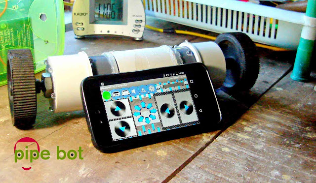 Pipe bot arduino bluetooth robot.
