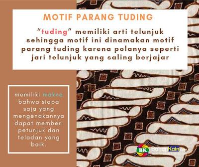 motif batik parang tuding