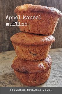 Recept voor muffins met kwark, appel en kaneel.
