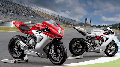 MV Agusta F3 800 on racing track