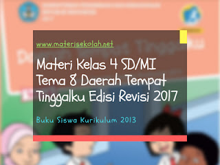 Materi Kelas 4 SD/MI Tema 8 Edisi Revisi 2017 Kurikulum 2013