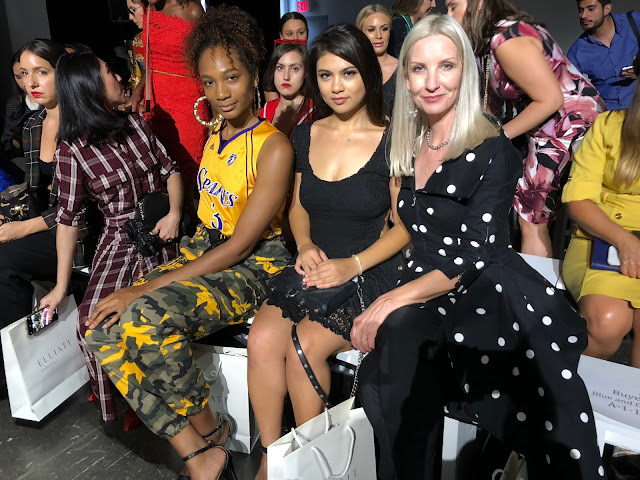 Kelly Fountain and Dawn @fashionshouldbefun front row at New York Fashion Week