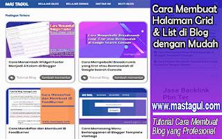 Cara Membuat Halaman Grid dan List di Blog gengan Mudah