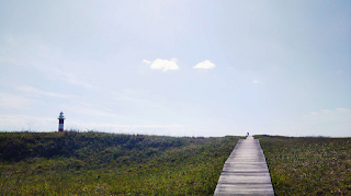 「はまなすの丘公園」と石狩灯台