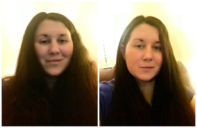 Hair Straightened, Before and After