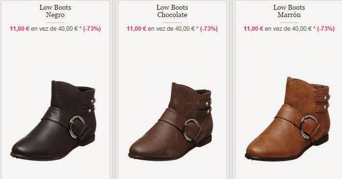 Disfruta de tus low boots este otoño por sólo 11 euros.