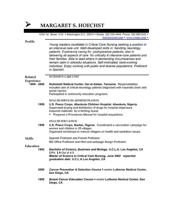 Accounting Student Resume Profile. Nursing Student Resume Examples