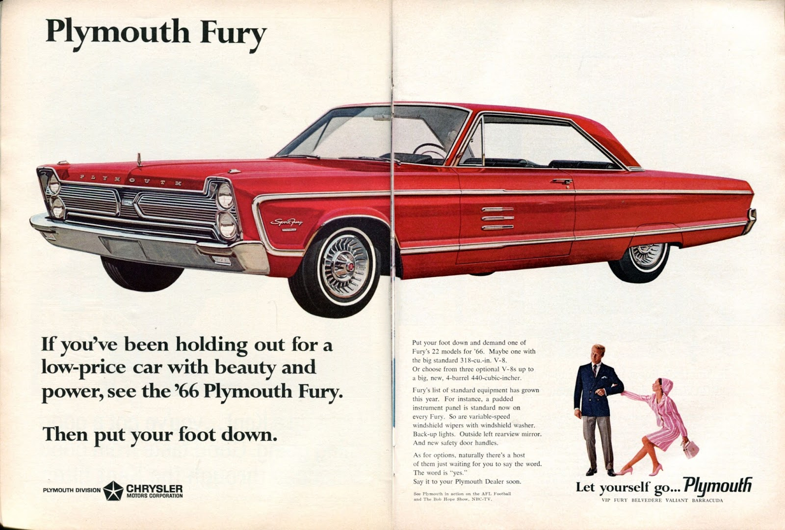 1966 Plymouth Fury - Vintage Cars Ads