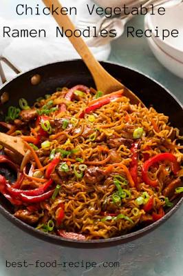 Chicken Vegetable Ramen Noodles Recipe