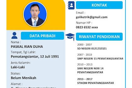 15+ Template CV Lamaran Kerja |Download CV Lamran Kerja Kosong Mudah Edit