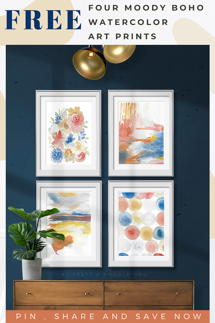Free Boho Art Prints // Trendy and Moody Boho Wall Art Printables for your Home by Craft A Doodle Doo #watercolor #art #prints #wallart #printables #illustrations #freebies #graphics #homedecor #artgallery #boho #moodyboho #warmboho #bohochic #instantdownload #free #craftadoodledoo #bohoart #bohodecor #watercolorart