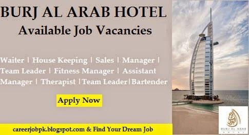 Job Vacancies in Burj Al Arab Hotel Dubai