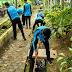 Waspadai Jentik Nyamuk, Siswa Bersihkan Selokan