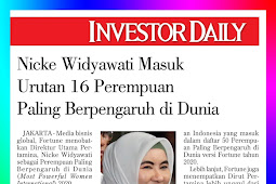Nicke Widyawati is in the rank of the 16 most influential women in the world